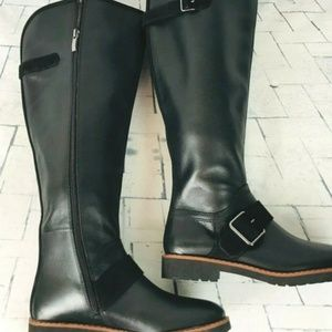 Franco Sarto Cutler Tall Boot W/C  Black Leather